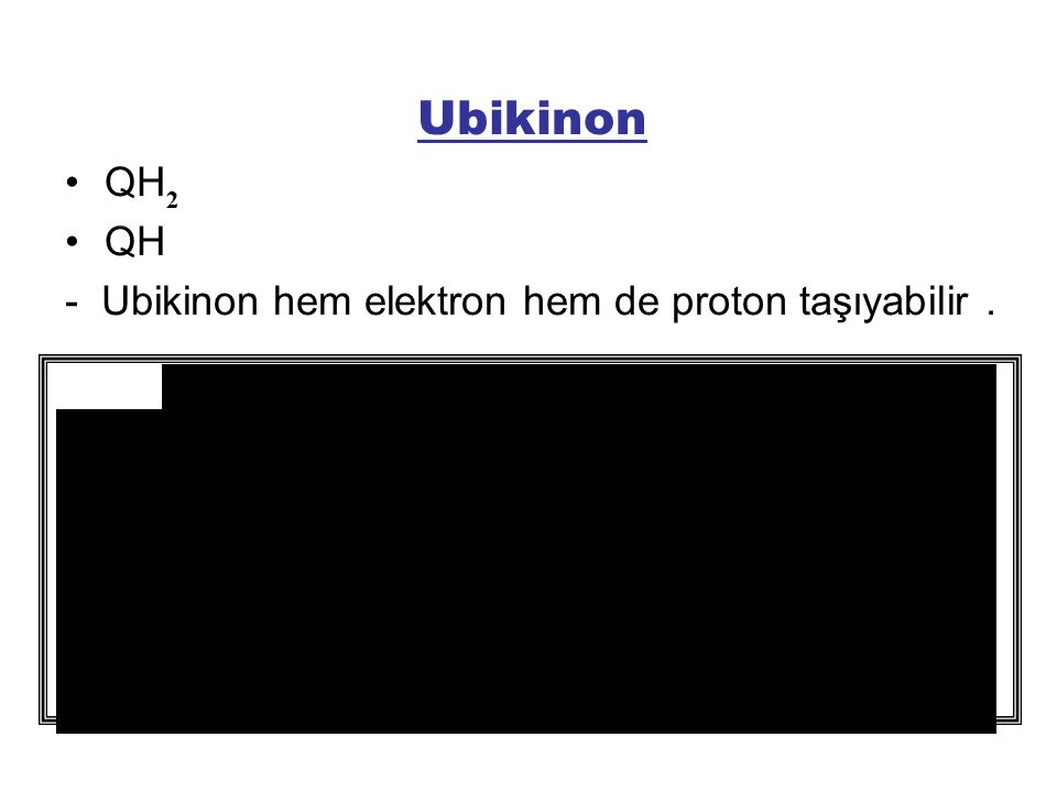 Ubikinon QH - Ubikinon hem elektron hem de proton taşıyabilir . 2