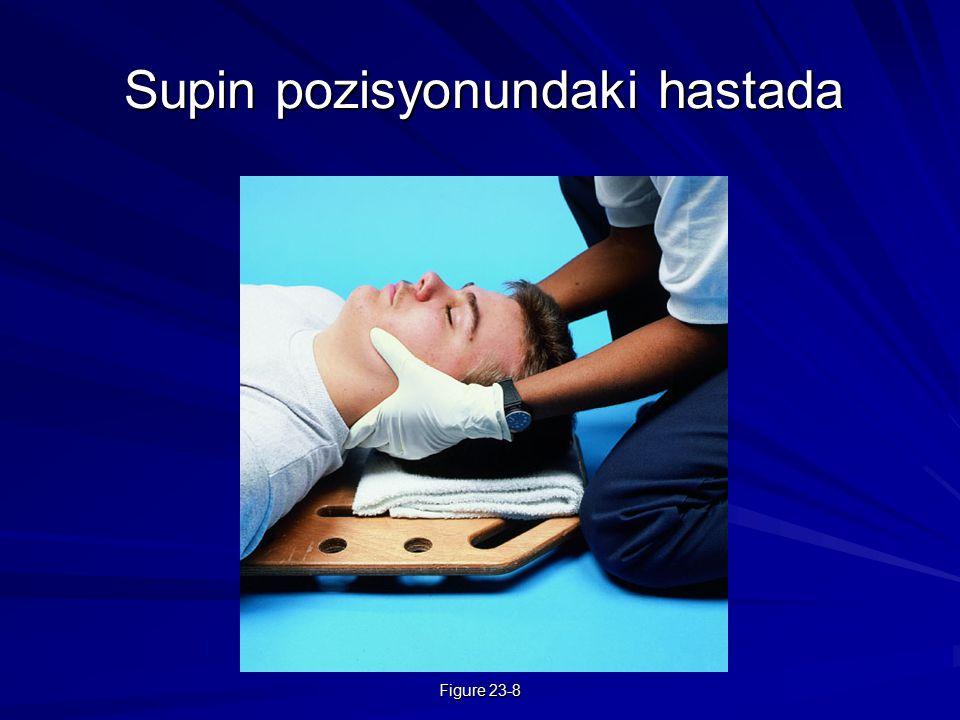 Supin pozisyonundaki hastada