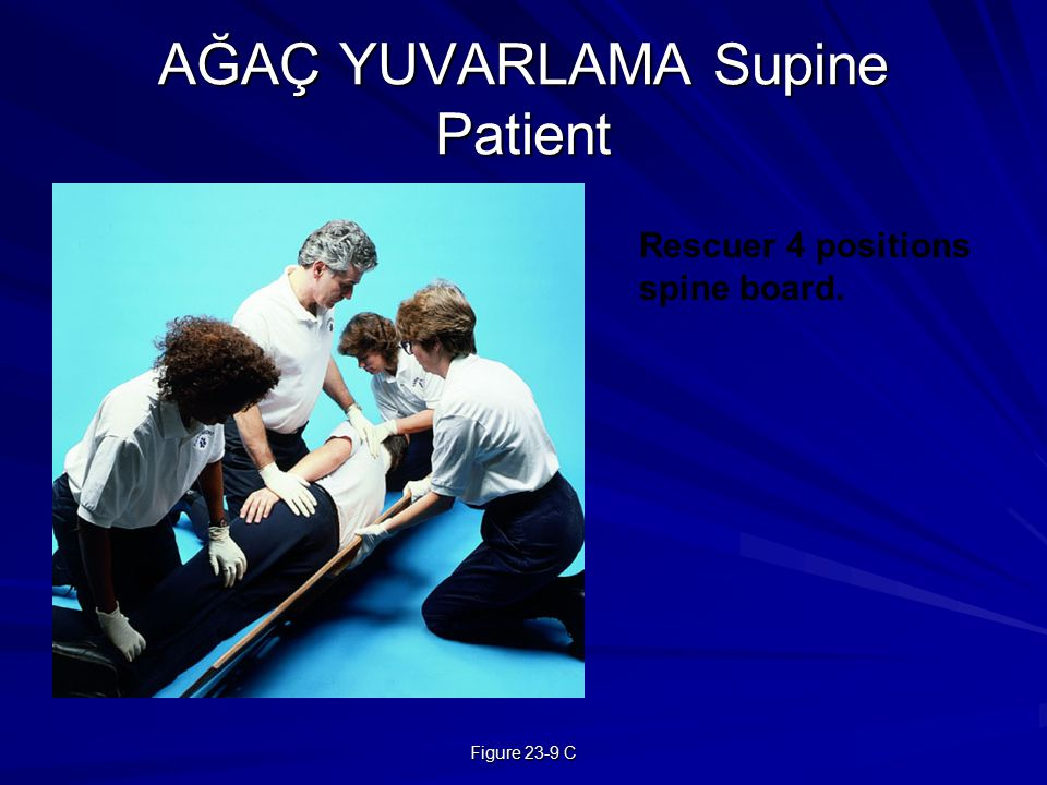 AĞAÇ YUVARLAMA Supine Patient