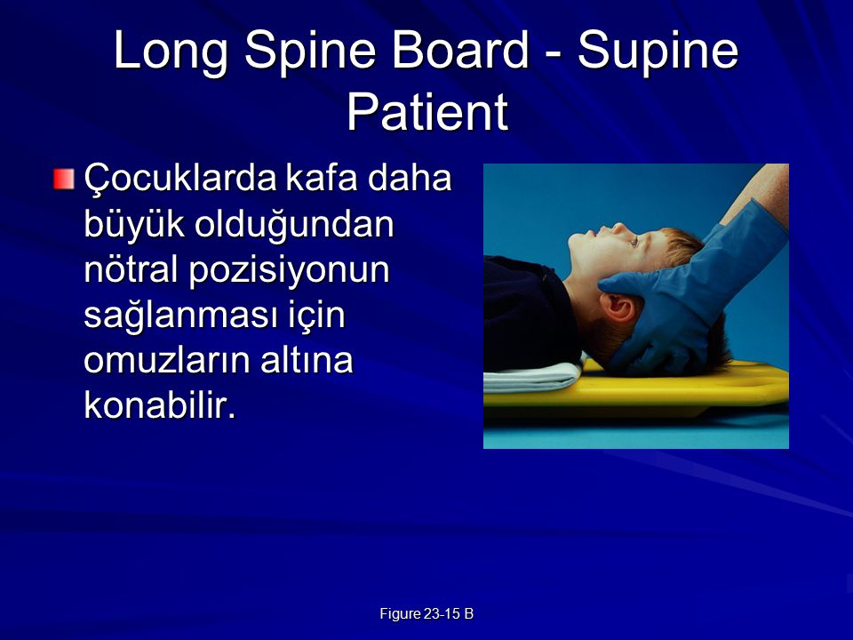 Long Spine Board - Supine Patient