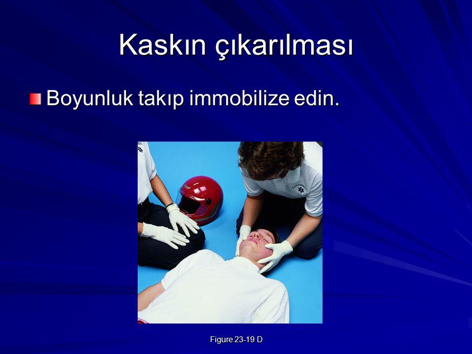 Kaskın çıkarılması Boyunluk takıp immobilize edin. Figure 23-19 D