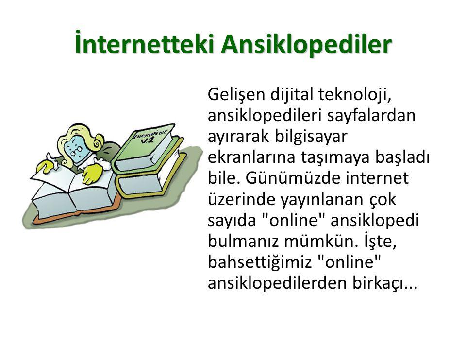 İnternetteki Ansiklopediler