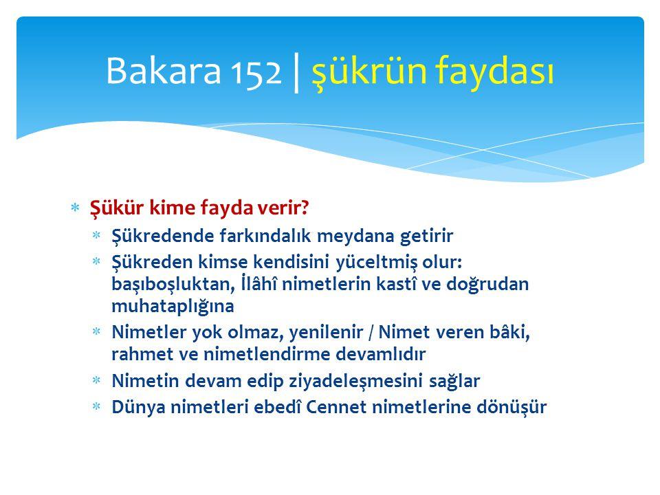 Bakara 152 | şükrün faydası