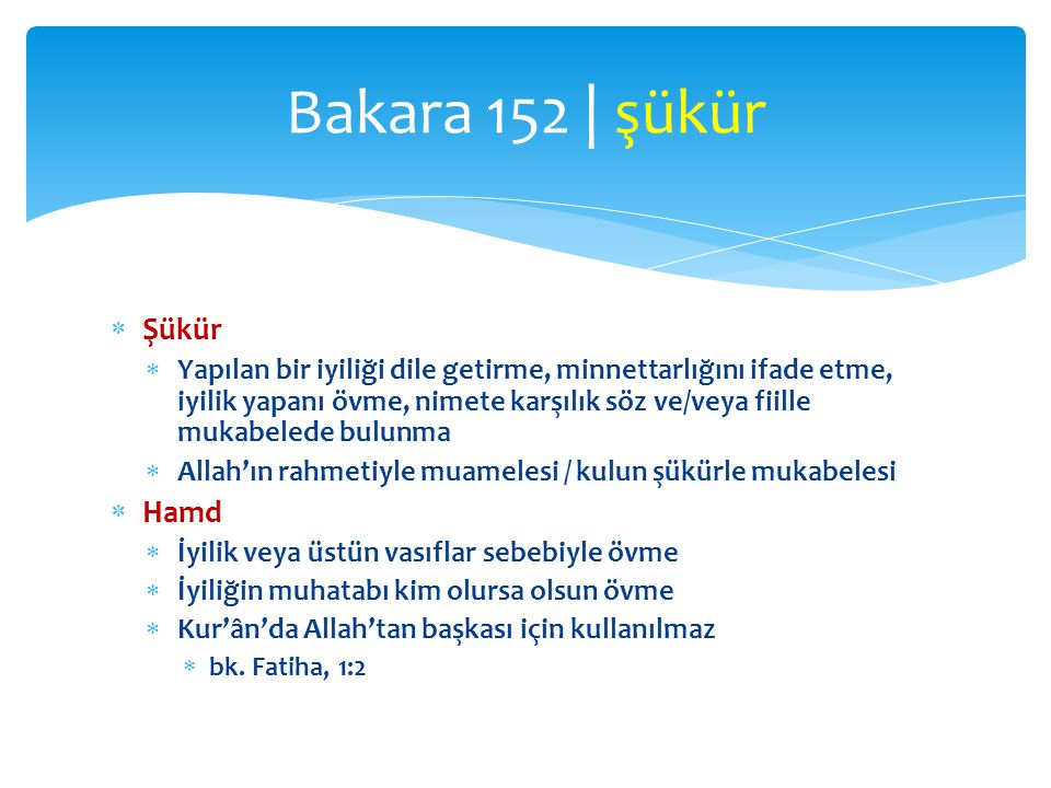 Bakara 152 | şükür Şükür Hamd