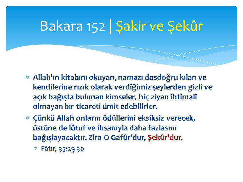 Bakara 152 | Şakir ve Şekûr
