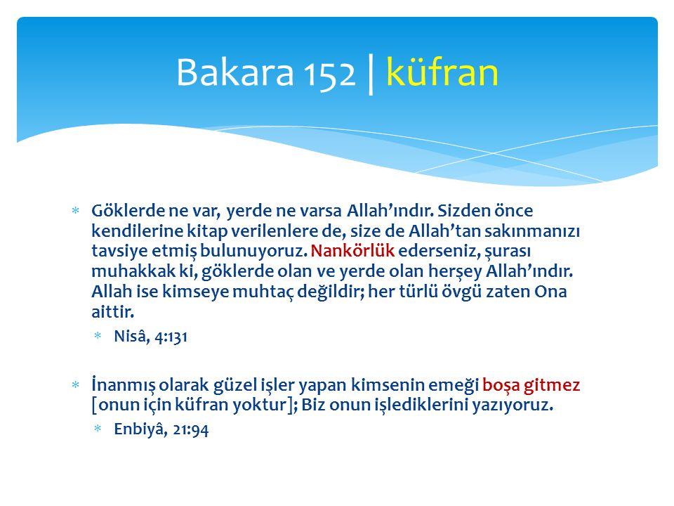 Bakara 152 | küfran