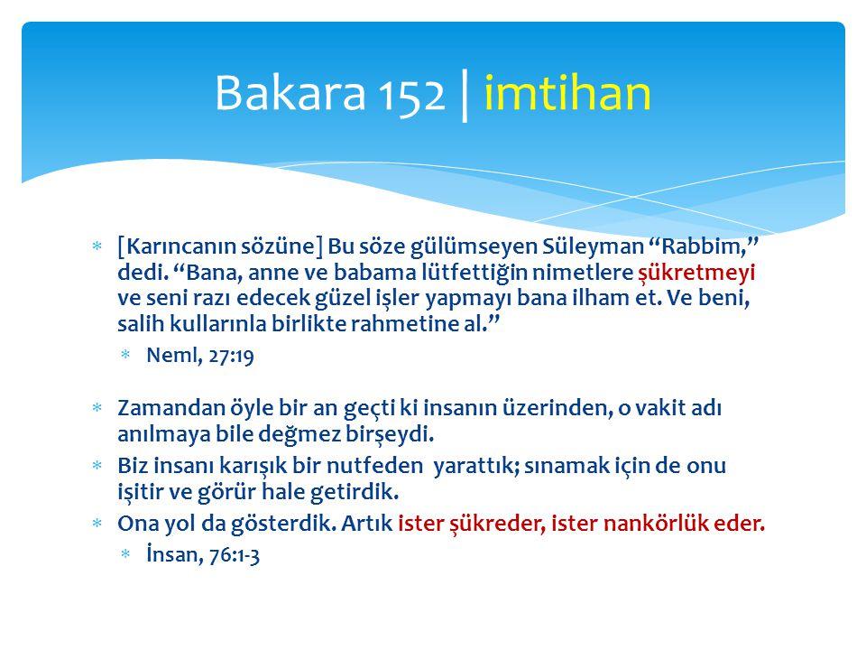 Bakara 152 | imtihan