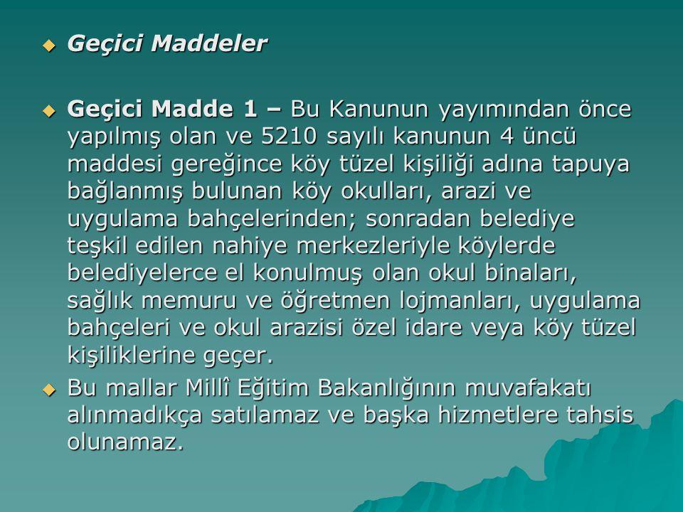 Geçici Maddeler