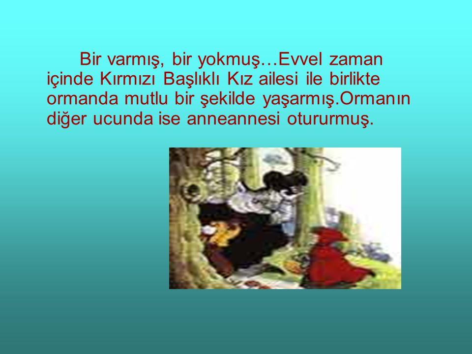 Bir varmış, bir yokmuş…Evvel zaman içinde Kırmızı Başlıklı Kız ailesi ile birlikte ormanda mutlu bir şekilde yaşarmış.Ormanın diğer ucunda ise anneannesi otururmuş.