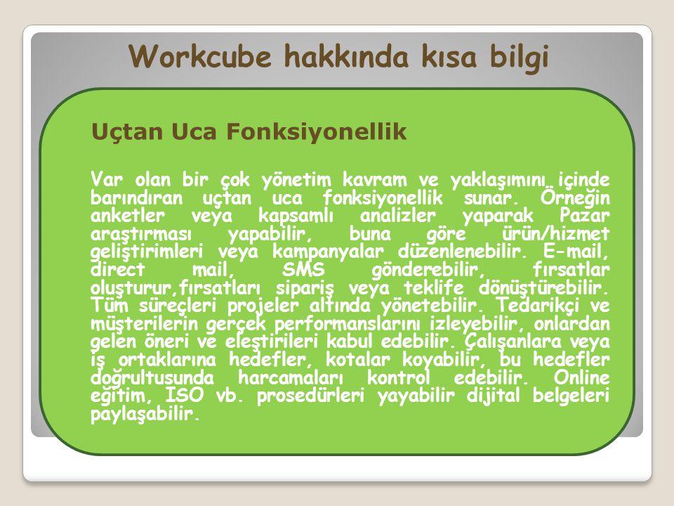 Workcube hakkında kısa bilgi