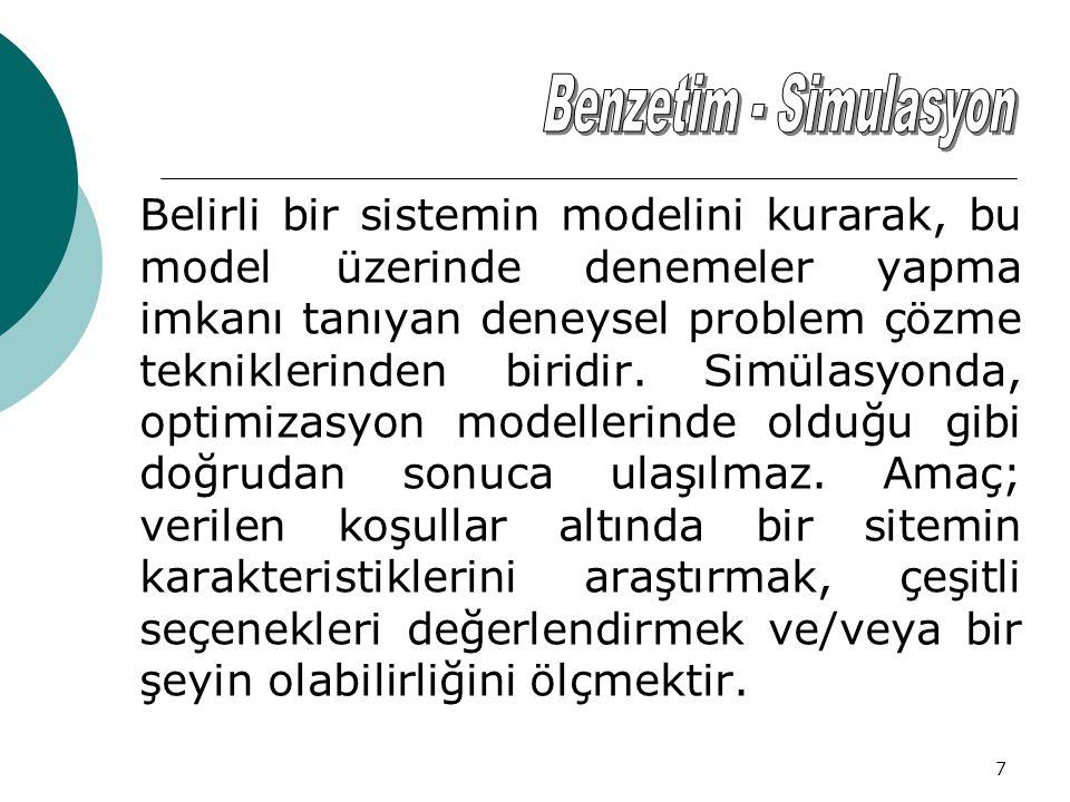 Benzetim - Simulasyon