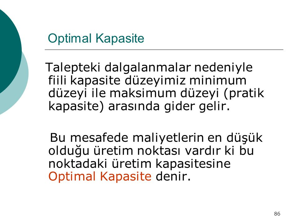 Optimal Kapasite