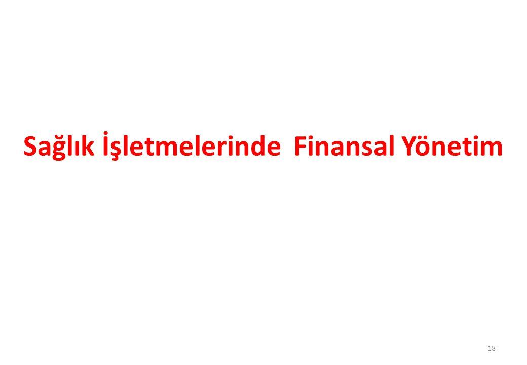 Sağlık İşletmelerinde Finansal Yönetim