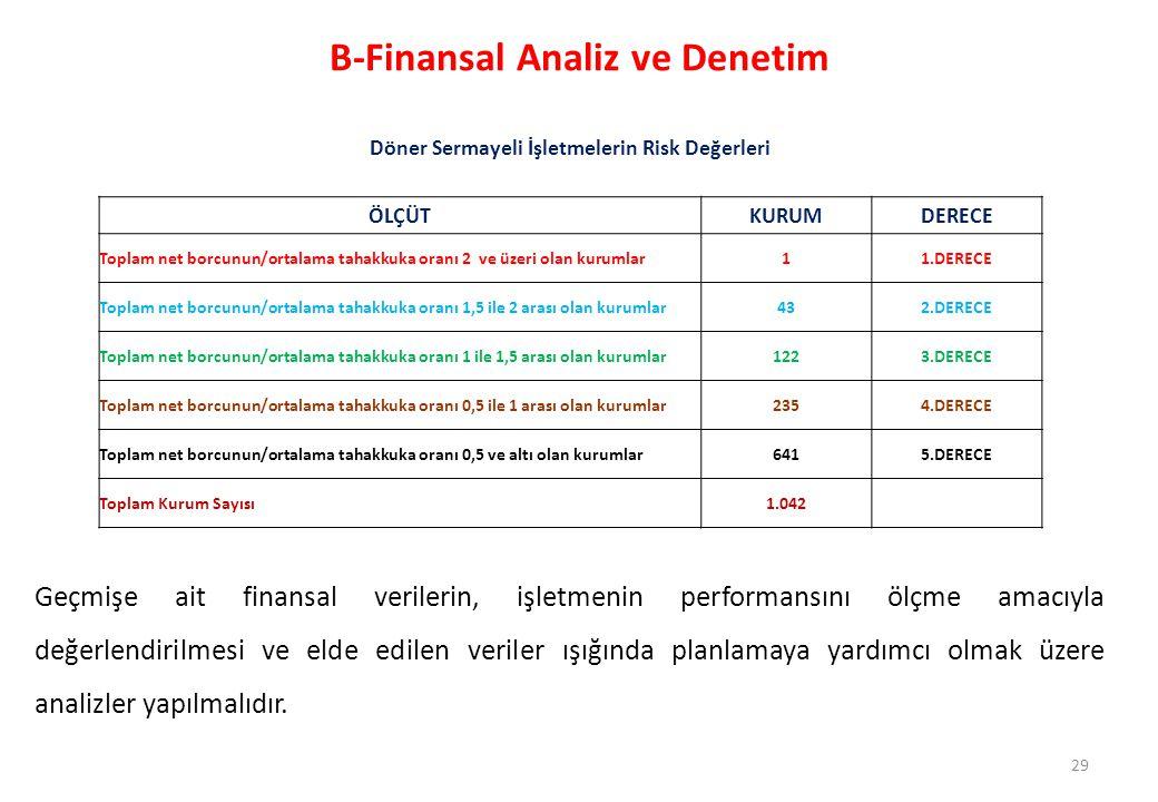 B-Finansal Analiz ve Denetim
