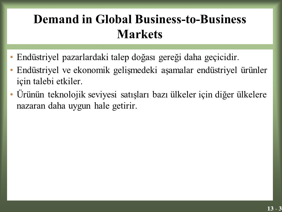 Demand in Global Business-to-Business Markets