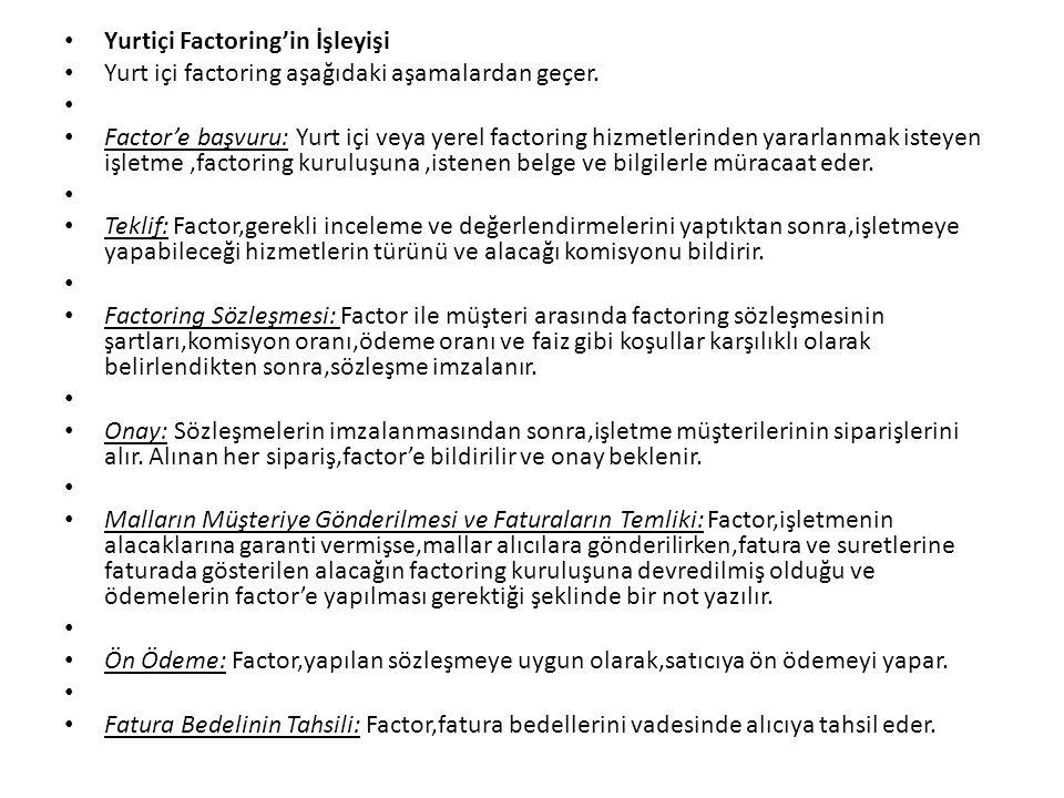 Yurtiçi Factoring'in İşleyişi