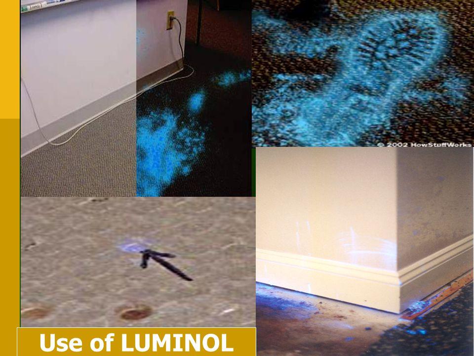 Use of LUMINOL