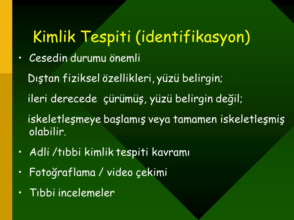 Kimlik Tespiti (identifikasyon)