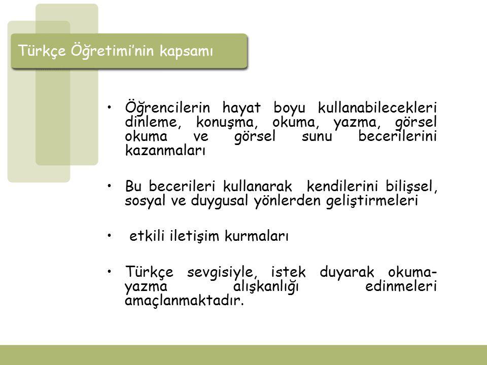Türkçe Öğretimi'nin kapsamı