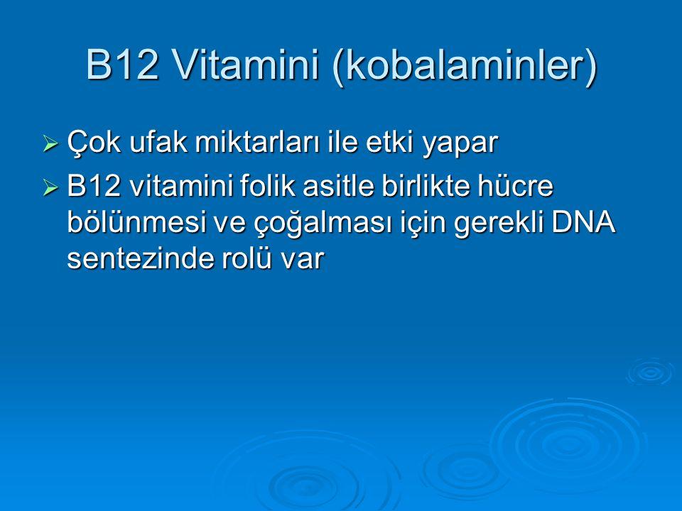 B12 Vitamini (kobalaminler)