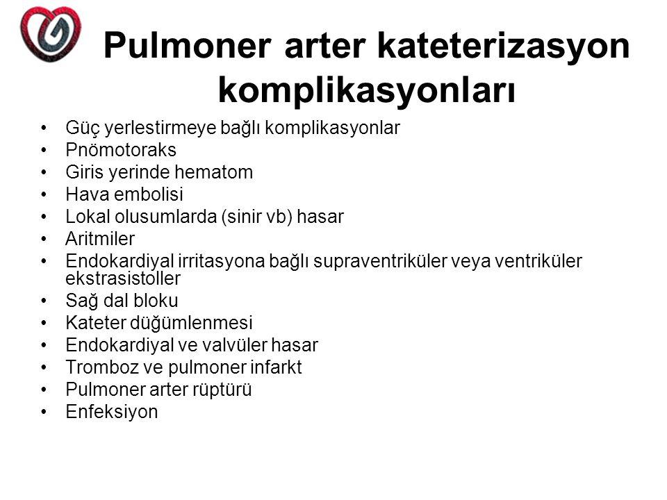 Pulmoner arter kateterizasyon komplikasyonları