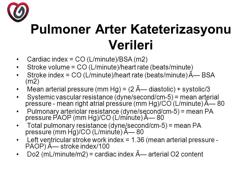 Pulmoner Arter Kateterizasyonu Verileri