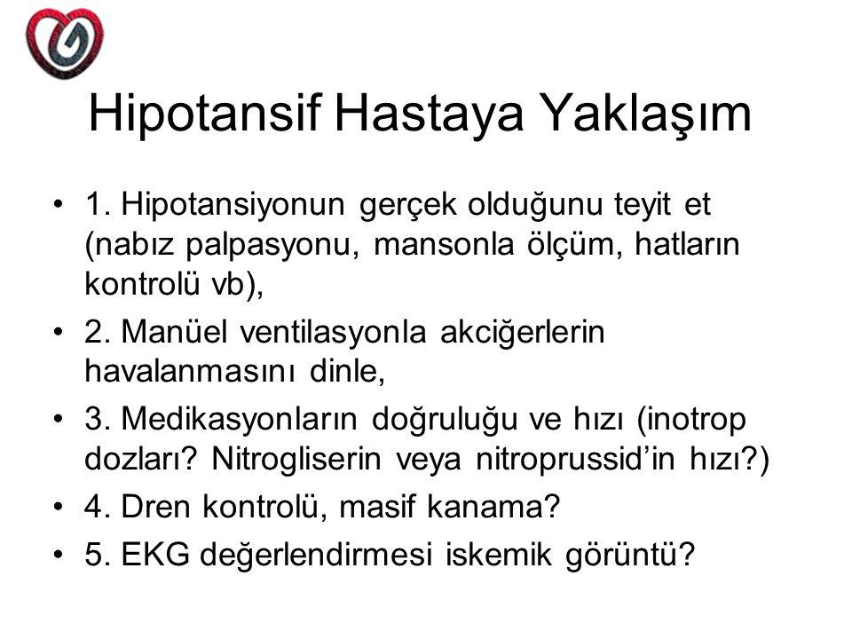 Hipotansif Hastaya Yaklaşım