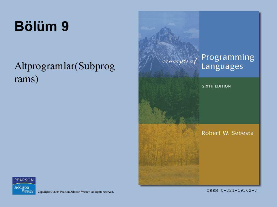 Altprogramlar(Subprograms)