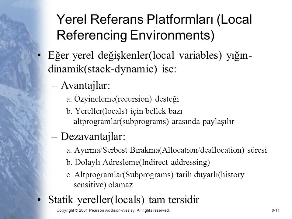 Yerel Referans Platformları (Local Referencing Environments)