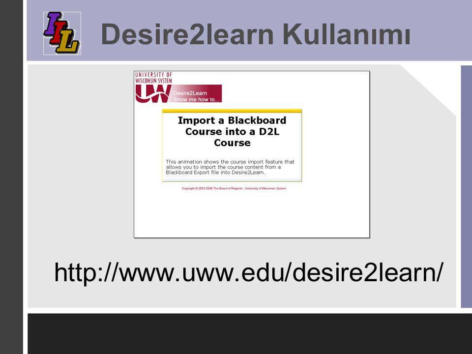 Desire2learn Kullanımı