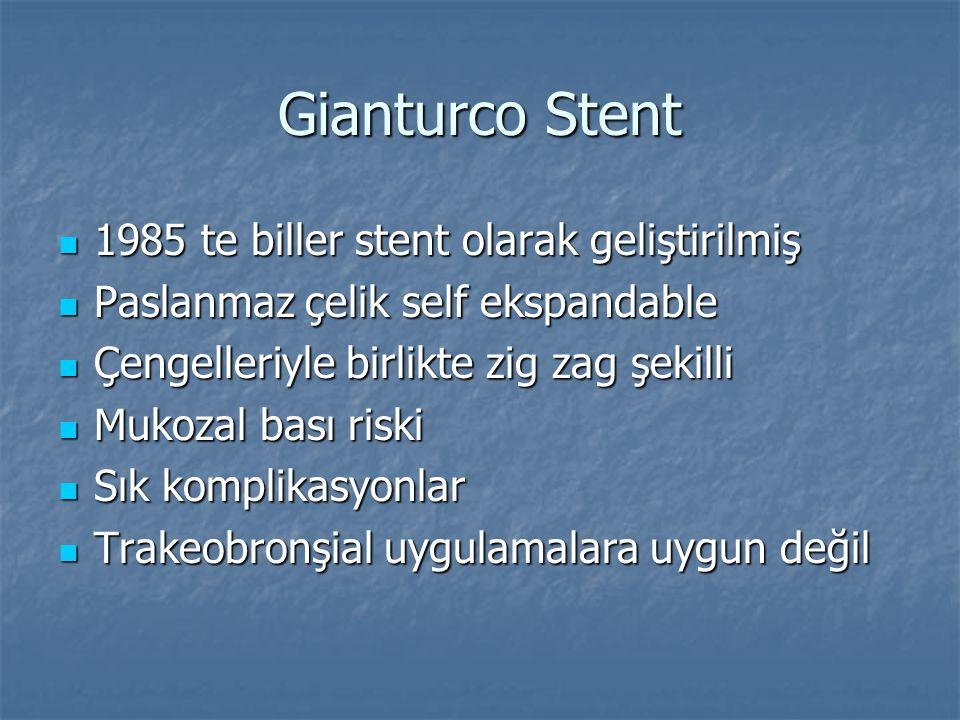 Gianturco Stent 1985 te biller stent olarak geliştirilmiş