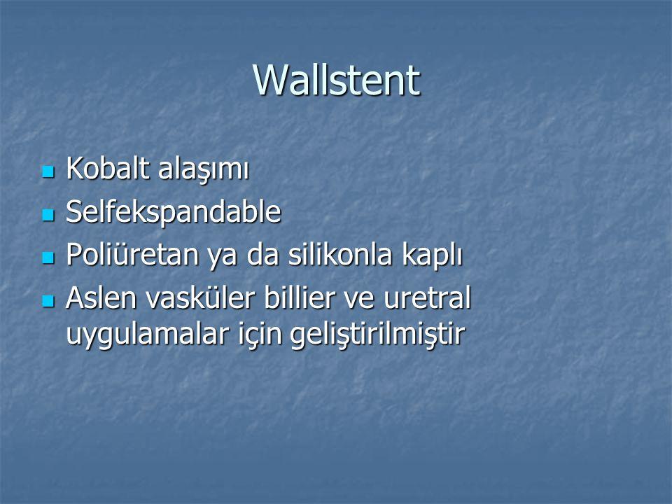 Wallstent Kobalt alaşımı Selfekspandable