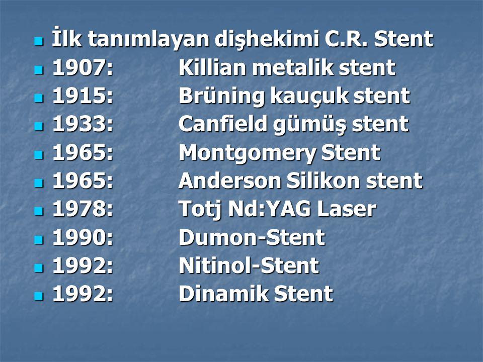 İlk tanımlayan dişhekimi C.R. Stent