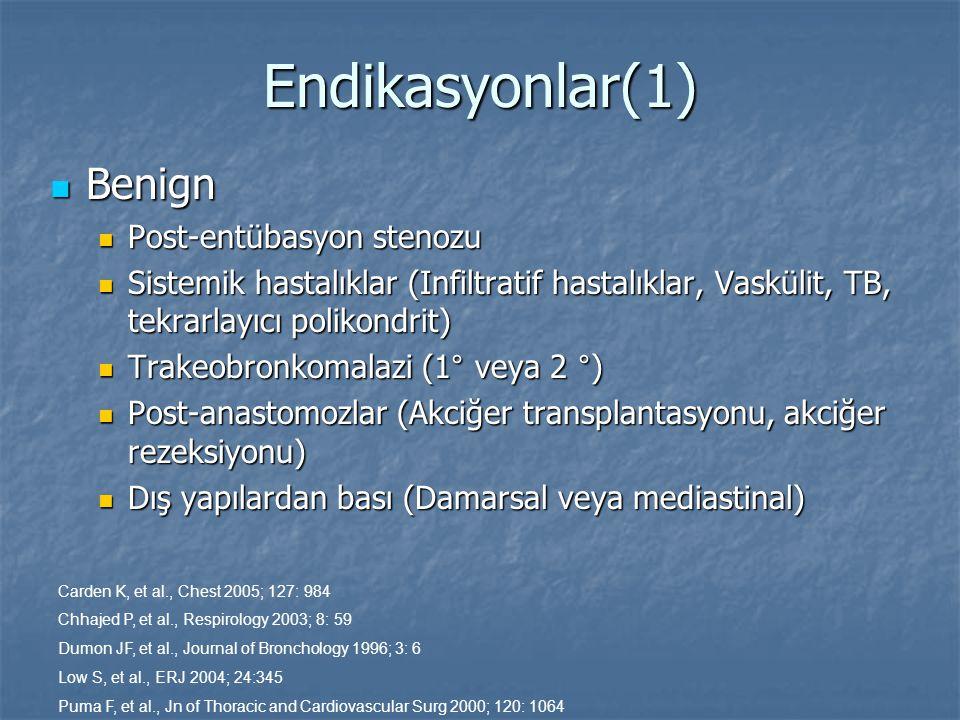 Endikasyonlar(1) Benign Post-entübasyon stenozu