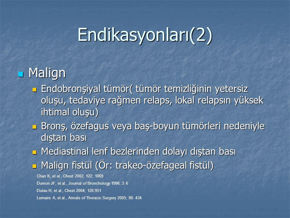 Endikasyonları(2) Malign