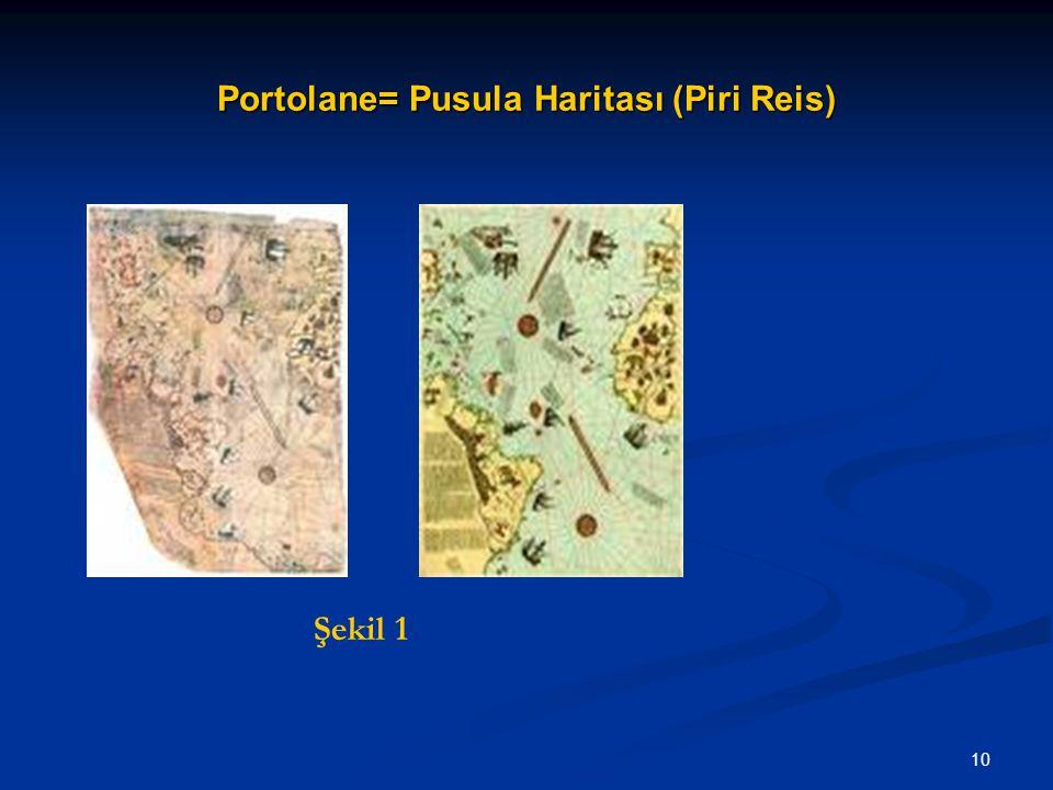 Portolane= Pusula Haritası (Piri Reis)