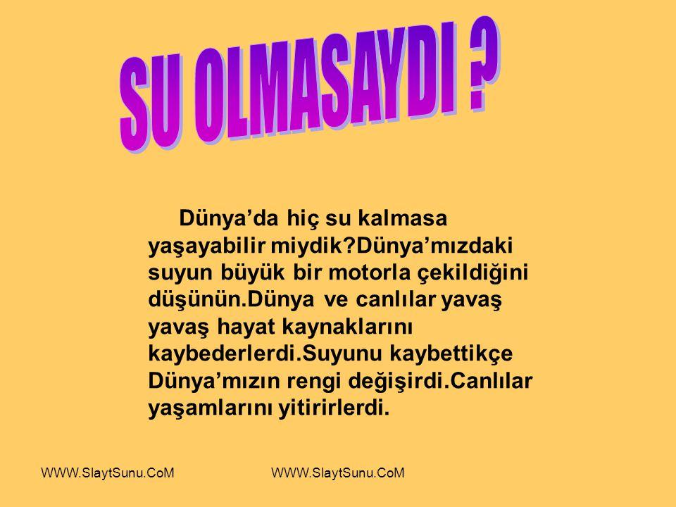 SU OLMASAYDI