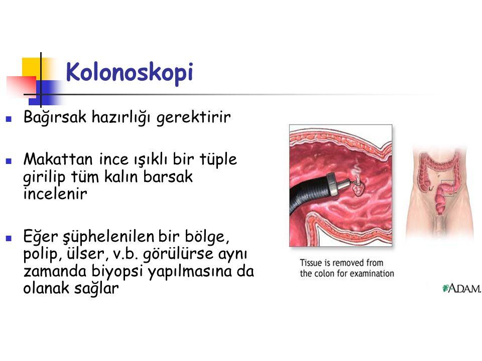 Kolonoskopi Bağırsak hazırlığı gerektirir