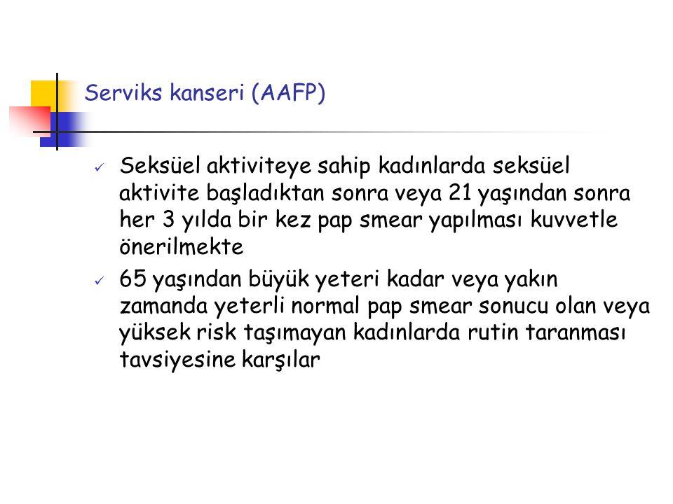 Serviks kanseri (AAFP)