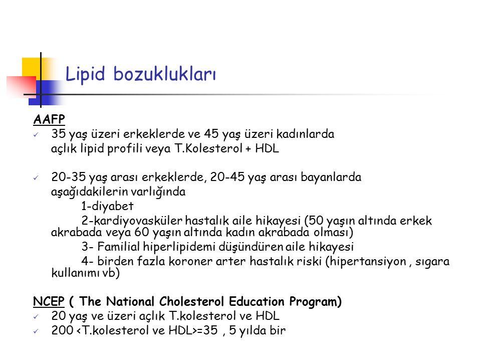 Lipid bozuklukları AAFP