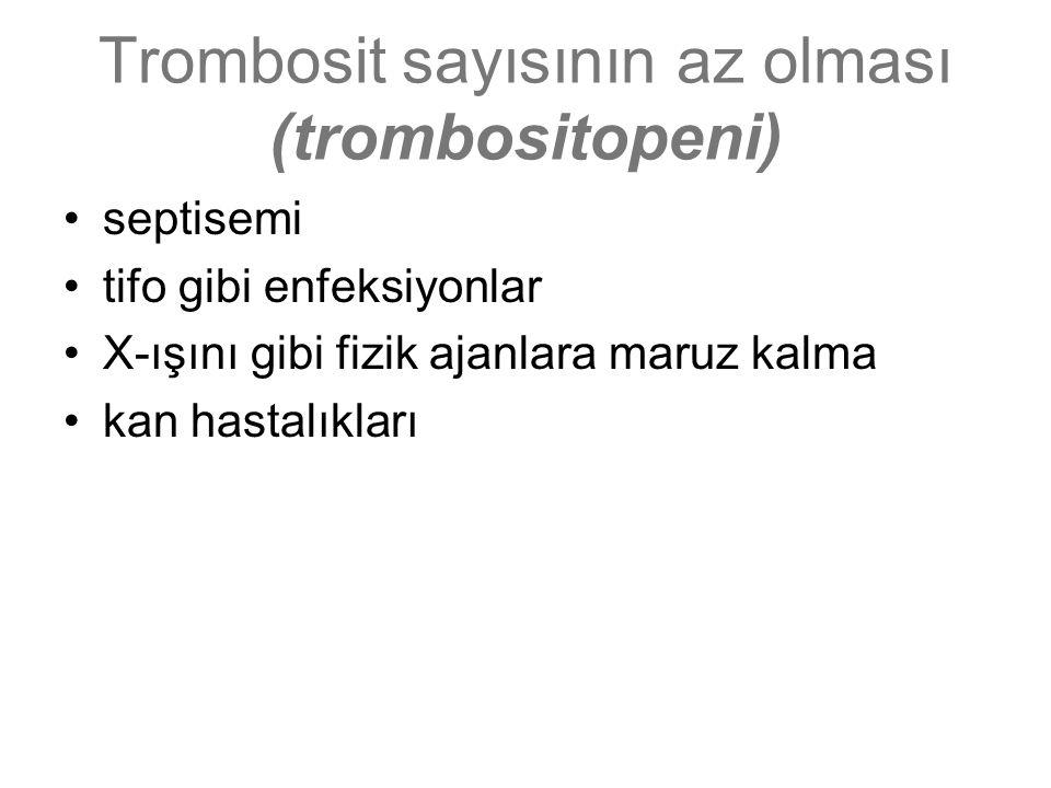 Trombosit sayısının az olması (trombositopeni)