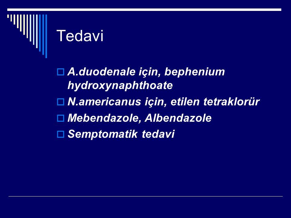 Tedavi A.duodenale için, bephenium hydroxynaphthoate