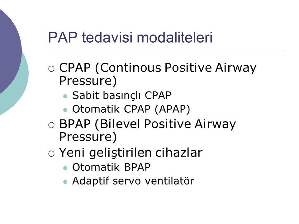 PAP tedavisi modaliteleri