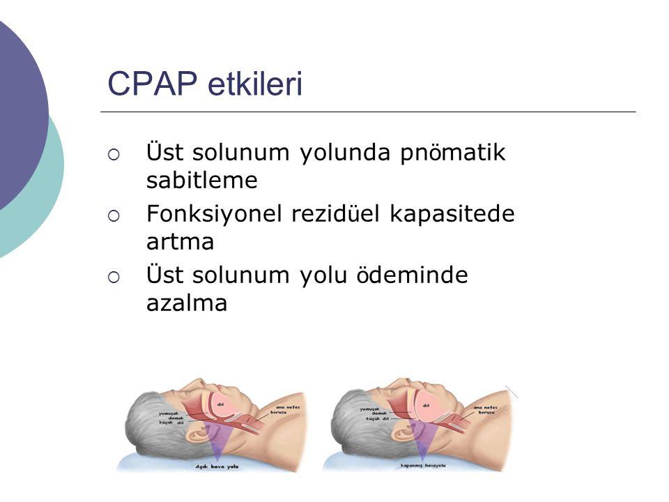 CPAP etkileri Üst solunum yolunda pnömatik sabitleme