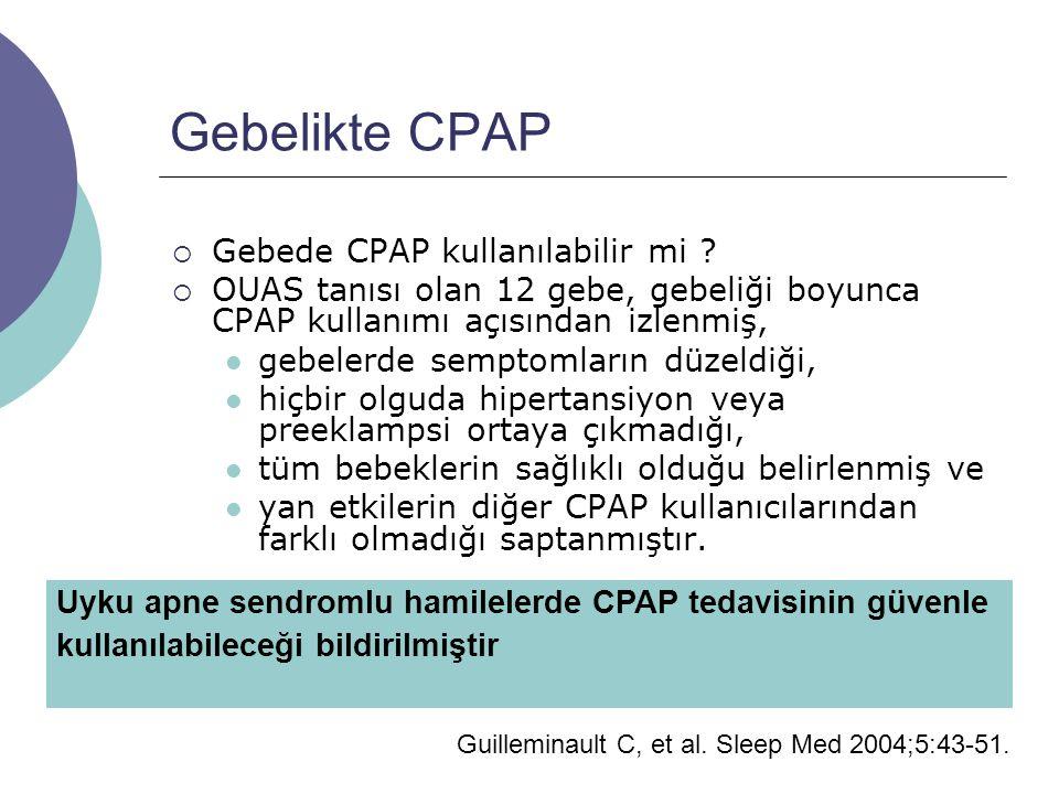Gebelikte CPAP Gebede CPAP kullanılabilir mi