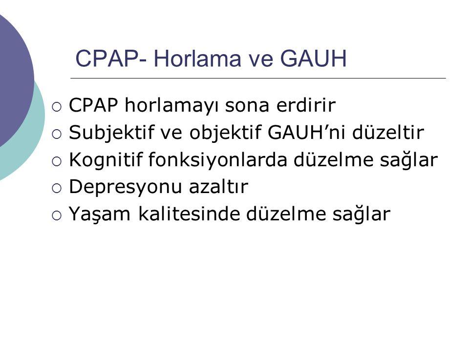 CPAP- Horlama ve GAUH CPAP horlamayı sona erdirir