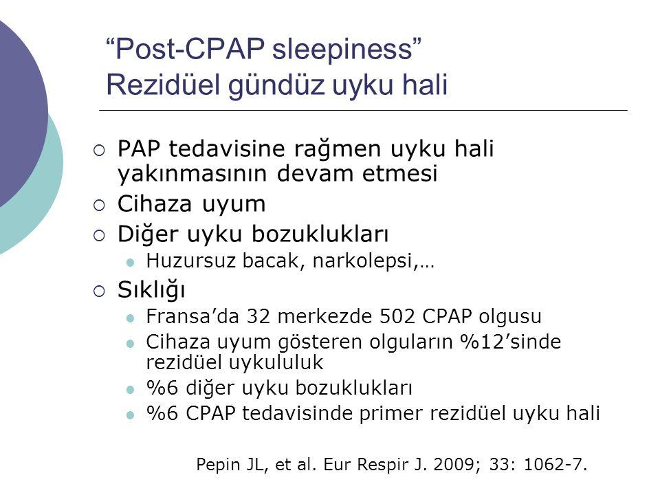 Post-CPAP sleepiness Rezidüel gündüz uyku hali