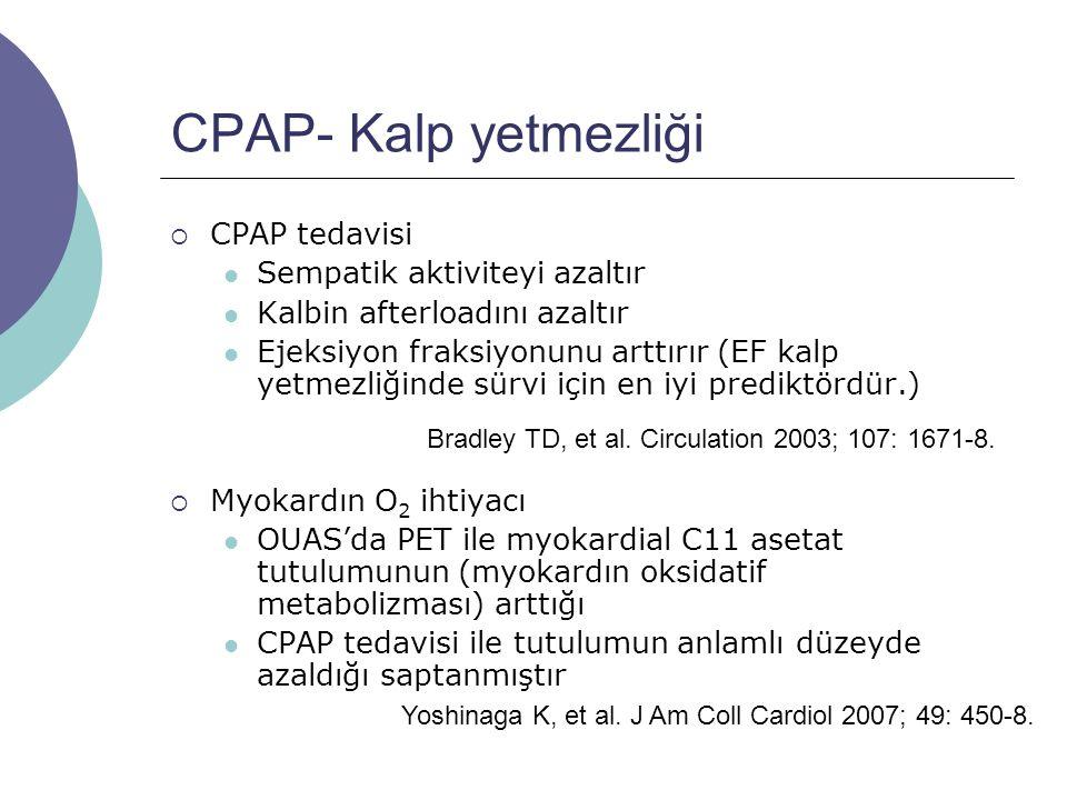 CPAP- Kalp yetmezliği CPAP tedavisi Sempatik aktiviteyi azaltır