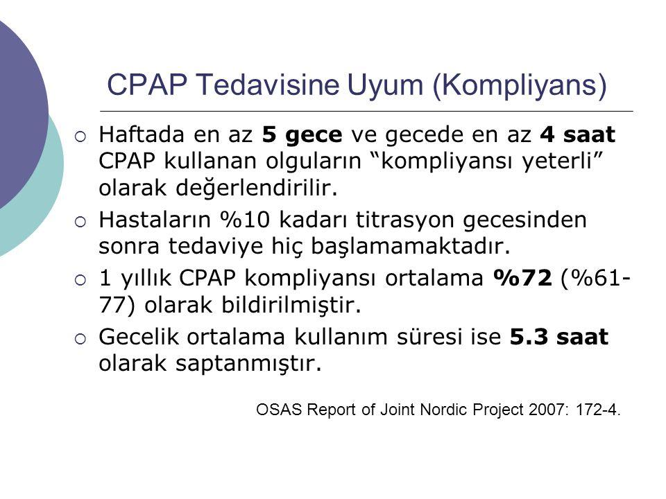 CPAP Tedavisine Uyum (Kompliyans)