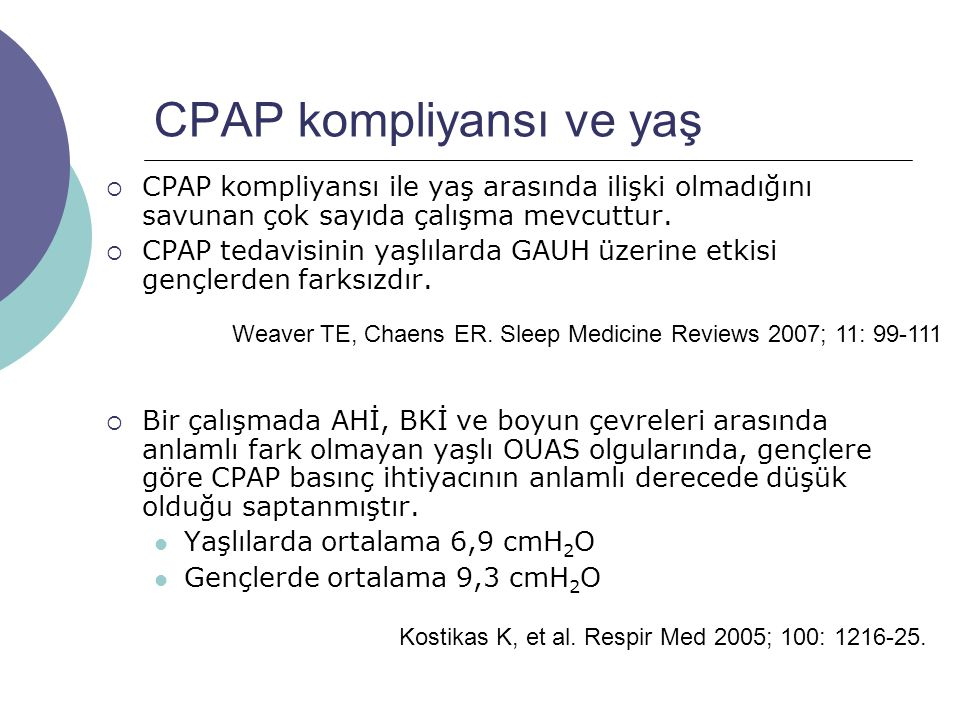 CPAP kompliyansı ve yaş